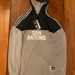 San Antonio Spurs NBA Adidas Hoodie On Court